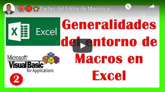 El curso VBA o también llamado Excel con macros te mostrará una visión muy nueva de lo que puedes hacer en Excel
