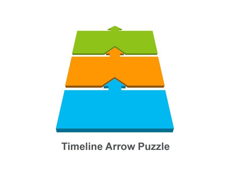 Si necesita mostrar un proceso de desarrollo, elija línea de tiempo de flecha como ejemplo. La idea es simple. Usando flechas, muestra cómo avanza hacia sus objetivos.