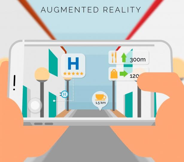 Se necesita tecnología sofisticada para crear experiencias de Realidad Aumentada (AR).