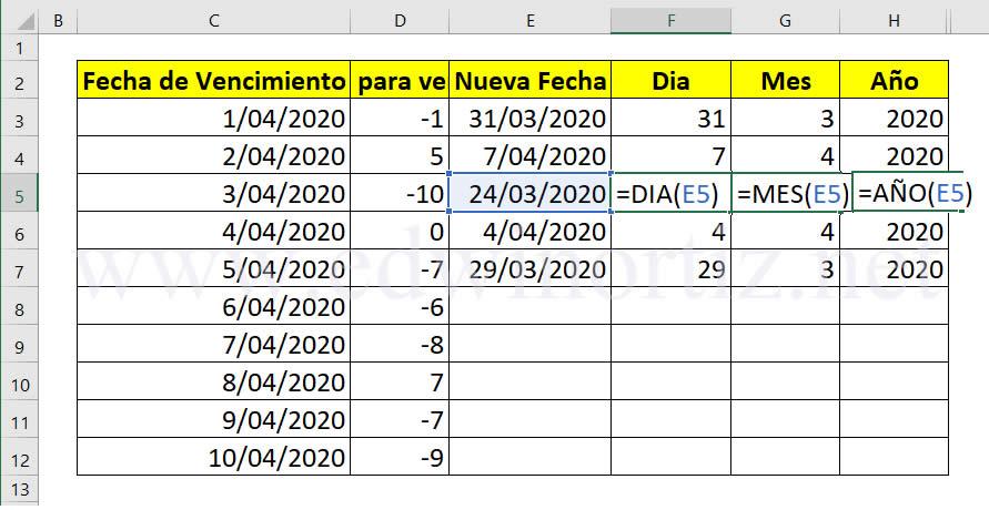 sumar y restar fechas