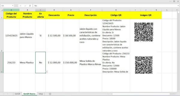 Generador de Códigos QR Masivos para productos